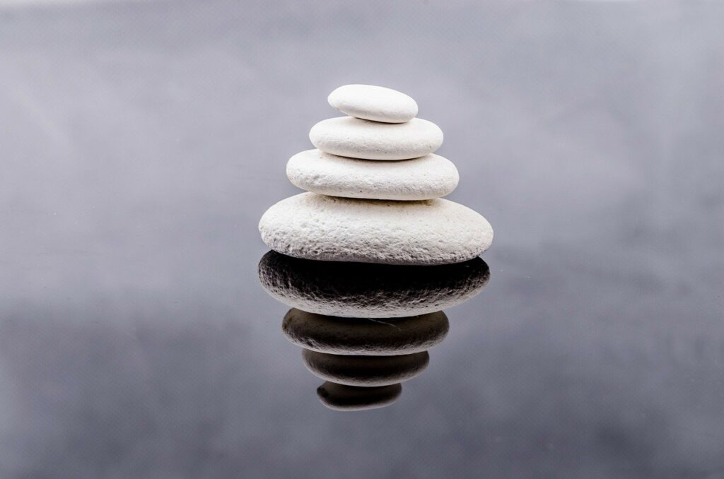 stone, zen, white