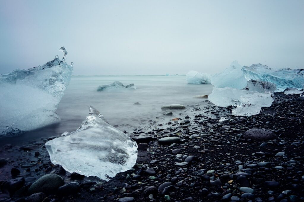 water, iceberg, ice